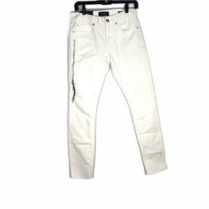 Pacsun - stacked white skinny jeans